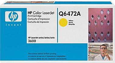 Картридж HP Q6472А желтый оригинальный