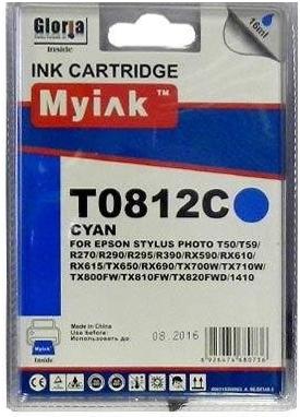 Картридж совместимый MyInk T0822 синий для Epson