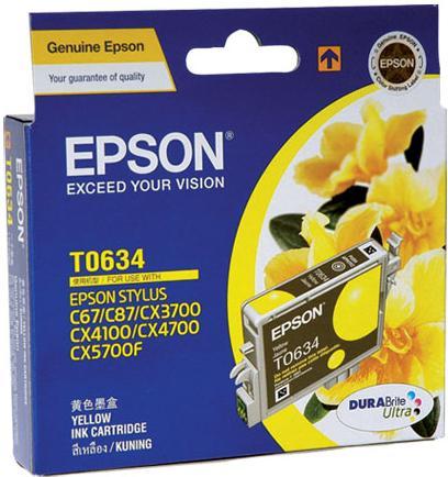 Картридж EPSON C13T06344A10 желтый оригинальный