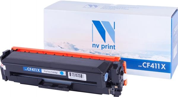 Картридж совместимый NVP CF411X голубой для HP