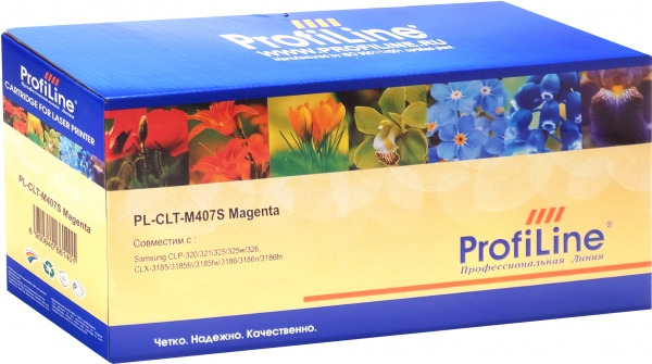 Картридж совместимый ProfiLine CLT-M407S Magenta для Samsung