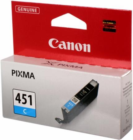 Картридж Canon CLI-451С голубой оригинальный