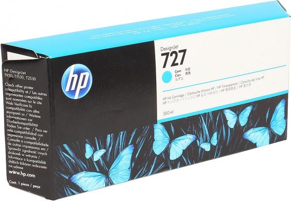 Картридж HP F9J76A (№727) голубой оригинальный