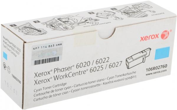 Принт-картридж Xerox 106R02760 голубой оригинальный