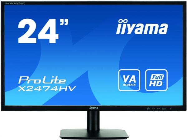 "Монитор 23.6"" iiYama X2474HV-B1 Black"
