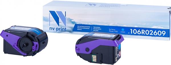 Картридж совместимый NVPrint 106R02609 для Xerox голубой