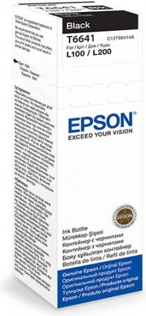 Чернила EPSON T66414A для L100/L200 черный 70 мл