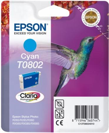 Картридж EPSON T0802 для P50/PX660 голубой оригинальный