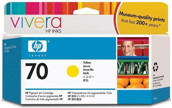 Картридж HP C9454A (№70) оригинальный желтый