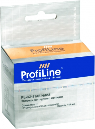Картридж совместимый ProfiLine CZ111AE №655 для HP пурпурный