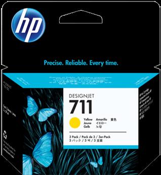 Картриджи HP CZ136A желтые тройная упаковка оригинальные