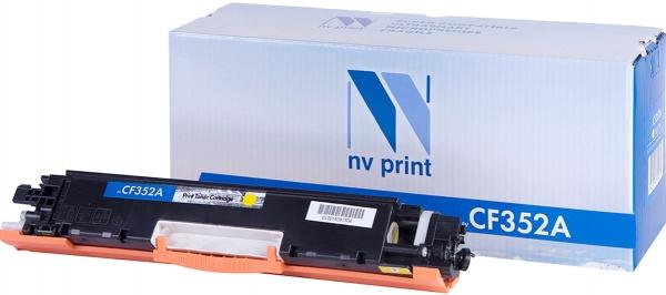 Картридж совместимый NVPrint CF352A для HP желтый