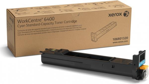 Тонер-картридж XEROX 106R01320 WC 6400 голубой CNL оригинальный