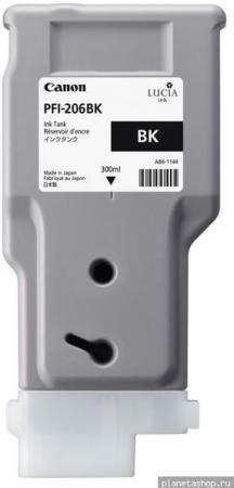 Картридж Canon PFI-206 BK чёрный оригинальный
