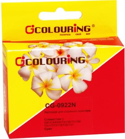 Картридж совместимый Colouring 0922N для Epson голубой