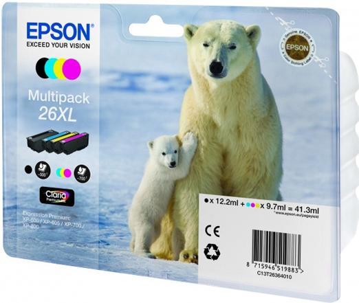 Картридж EPSON T26364010 четырехцветный оригинальный