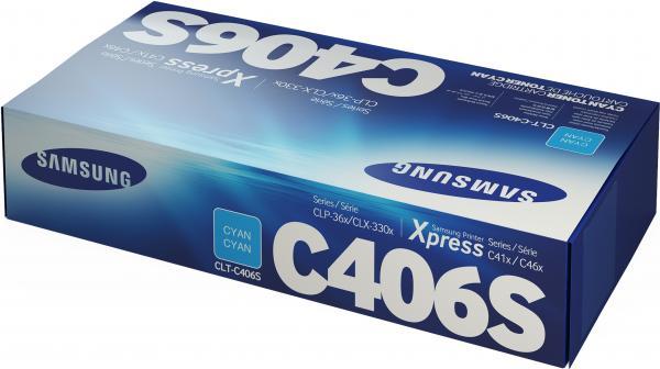 Картридж Samsung CLT-C406S голубой UNITON Eco