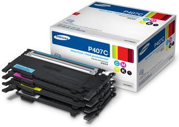 Комплект картриджей Samsung CLT-P407C (CMYK) четыре цвета (оригинальный)