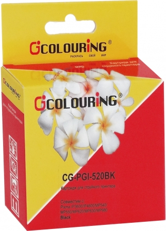 Картридж совместимый Colouring PGI-520BK для Canon с чипом