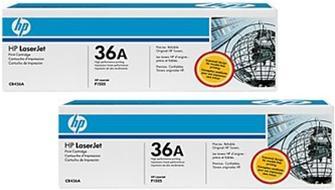 Картридж HP CB436AD черный двойная упаковка оригинальный