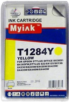 Картридж совместимый MyInk T1284 желтый для Epson