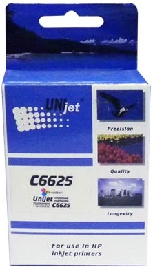 Картридж совместимый Unijet C6625A цветной для HP
