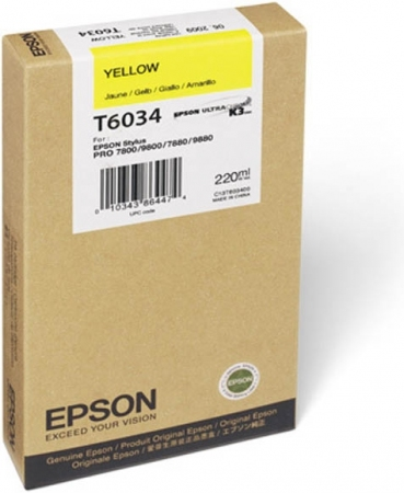 Картридж EPSON T6034 (C13T603400) желтый оригинальный