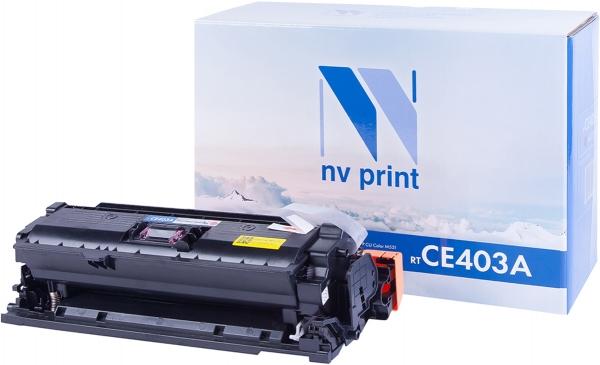 Картридж совместимый NVP CE403A пурпурный для HP