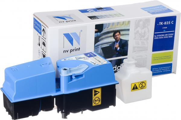 Тонер-картридж Kyocera TK-825C голубой совместимый NV Print