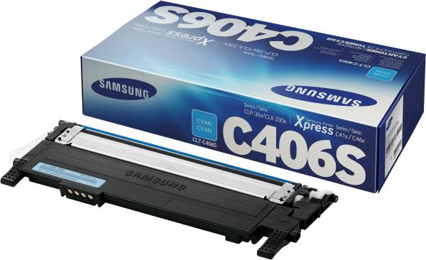 Тонер-картридж Samsung CLT-C406S (CLT-C406S/SEE) голубой (оригинальный)