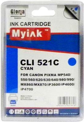 Картридж совместимый MyInk CLI-521C синий для Canon
