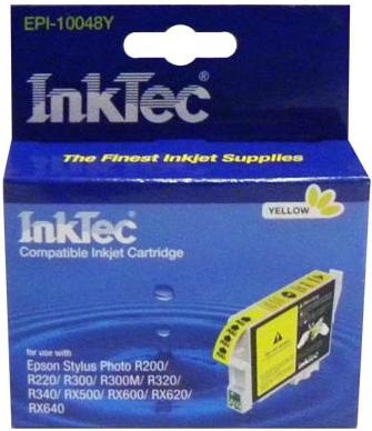 Картридж совместимый InkTec T0484 желтый для Epson