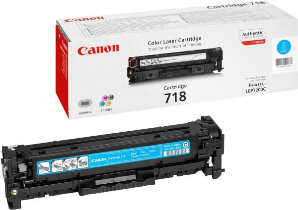 Картридж Canon Cartridge 718C голубой совместимый UNITON Eco