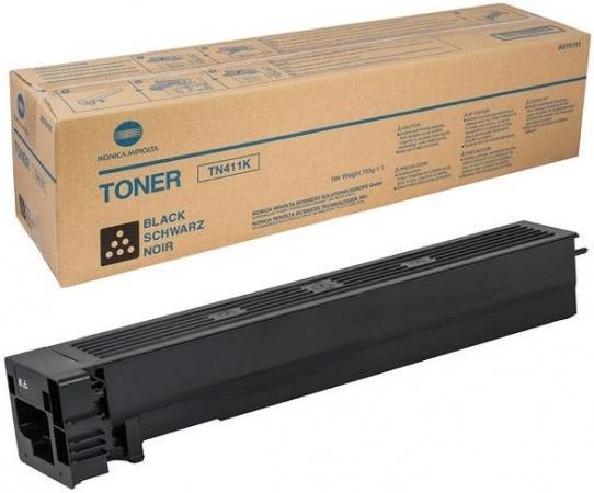 Тонер-картридж Konica Minolta TN411K черный оригинальный