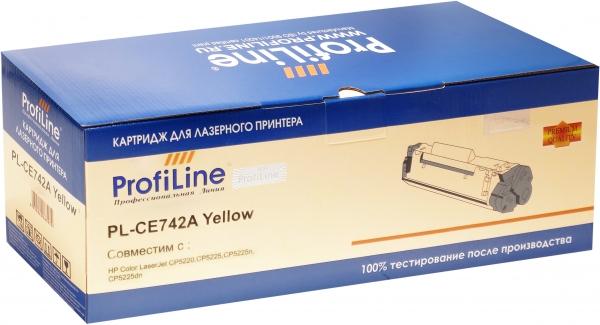 Картридж совместимый ProfiLine CE742A Yellow для HP