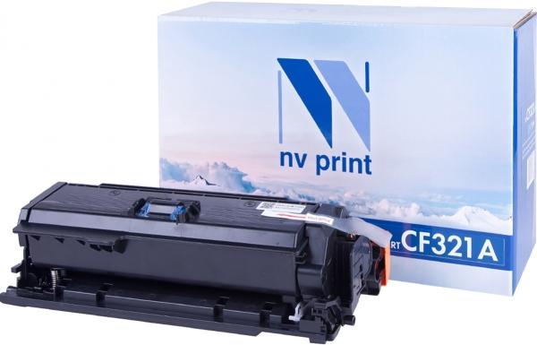 Картридж совместимый NVPrint CF321A для НР голубой
