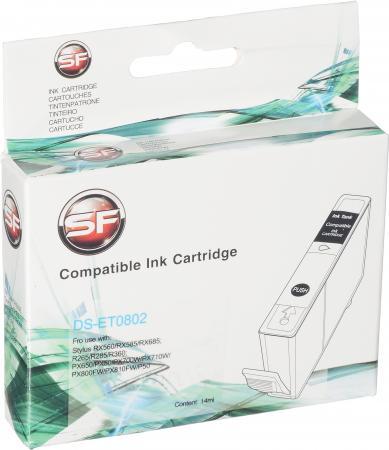 Картридж совместимый SuperFine T0802 голубой для Epson