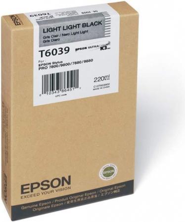 Картридж EPSON T6039 (C13T603900) светло-серый оригинальный