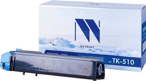 Картридж совместимый NVPrint TK-510 для Kyocera голубой