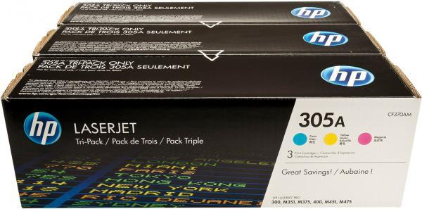 Тонер-картридж HP CE411A /412/413305A тройная упаковка оригинальный
