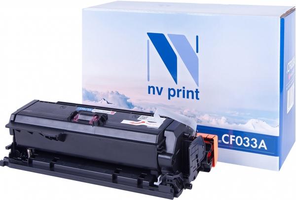 Картридж совместимый NVP CF033A пурпурный для HP