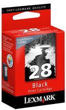 Картридж Lexmark № 28 черный оригинал
