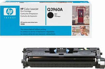 Тонер-картридж HP Q3960A (122A) чёрный (оригинальный) без коробки