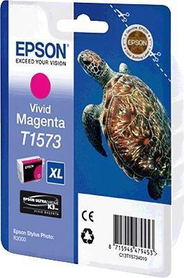 Картридж EPSON T15734010 пурпурный оригинальный