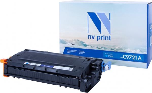Картридж совместимый NV Print C9721A голубой для HP