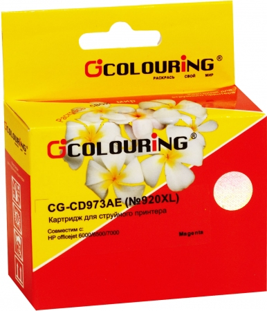 Картридж совместимый Colouring CD973AE №920XL для HP пурпурный