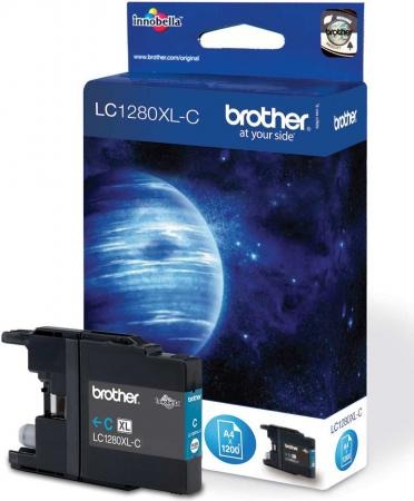 Картридж Brother 1280 XL C голубой совместимый