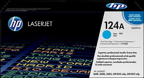 Картридж HP Q6001A голубой оригинальный