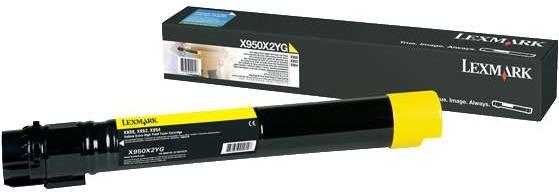 Картридж Lexmark X950X2YG желтый оригинальный