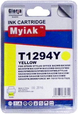Картридж совместимый MyInk T1294 желтый для Epson